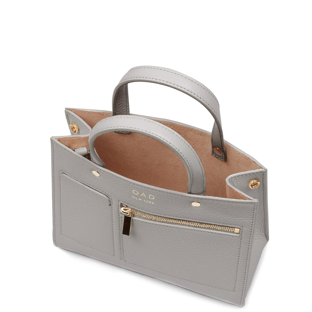 Mini Pocket Tote - Cool Grey