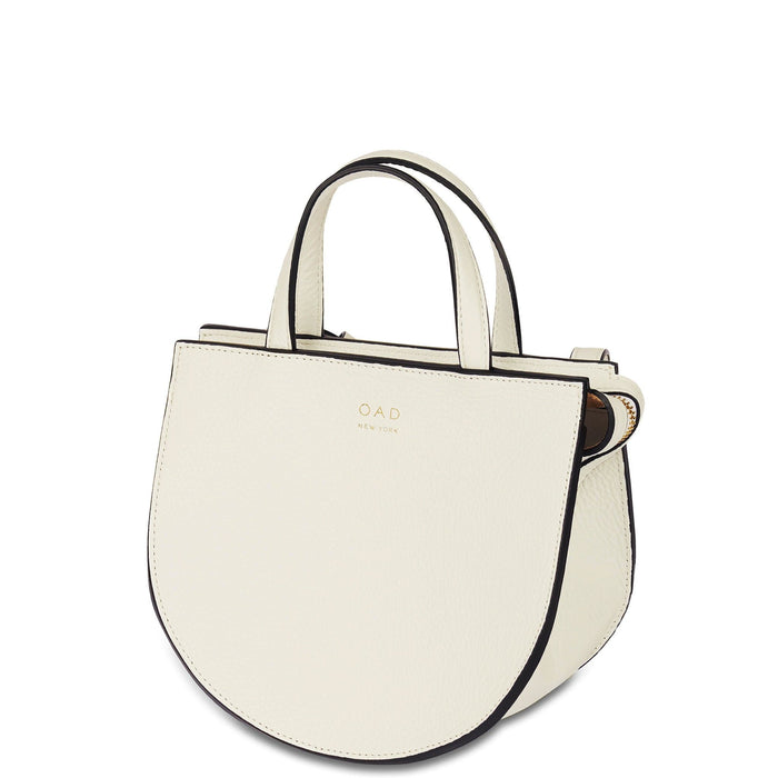 Mini Saddle Courier - Creme - OAD NEW YORK