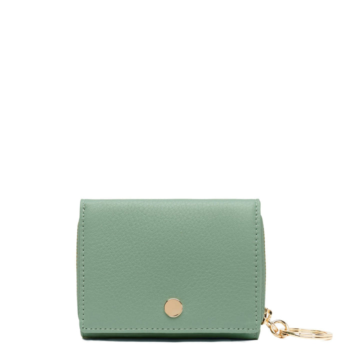 Mini Zip Around Wallet - Celadon - OAD NEW YORK