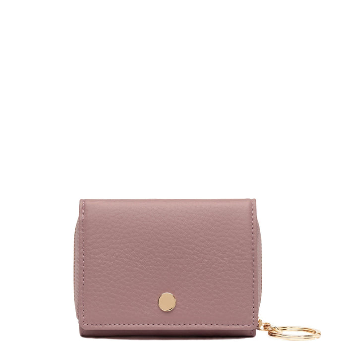 Mini Zip Around Wallet - Dark Rose - OAD NEW YORK