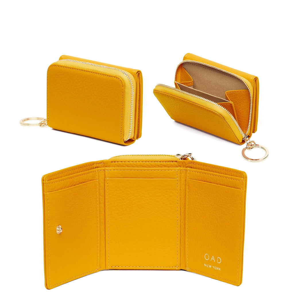 Mini Zip Around Wallet - Honey - OAD NEW YORK