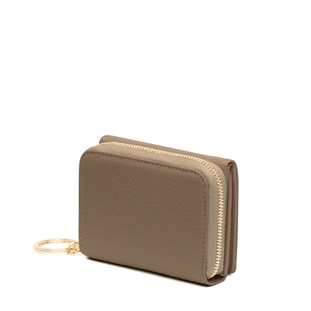 Mini Zip Around Wallet - Porcini - OAD NEW YORK