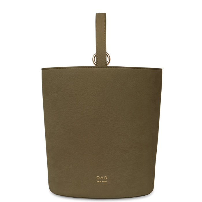 Nubuck Dome Bucket Bag - Moss - OAD NEW YORK