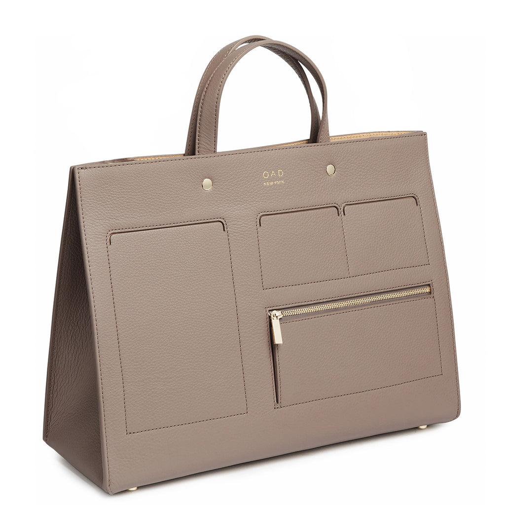 Pocket Grand Tote - Taupe