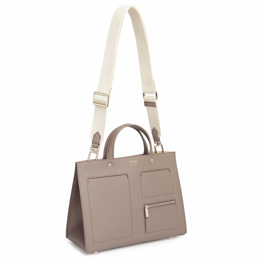 Pocket Tote - Taupe