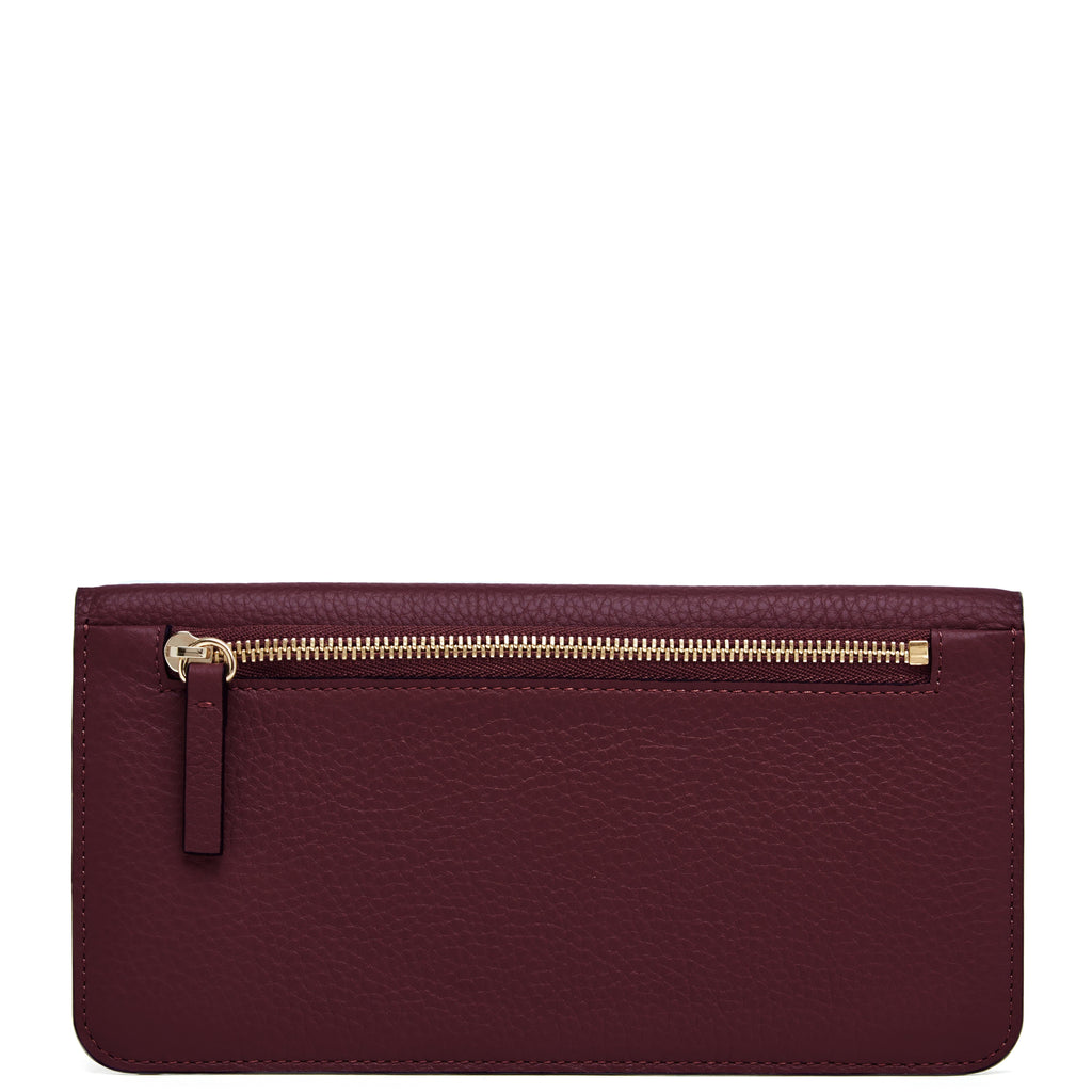 Slim Wallet Clutch - Bordeaux - OAD NEW YORK