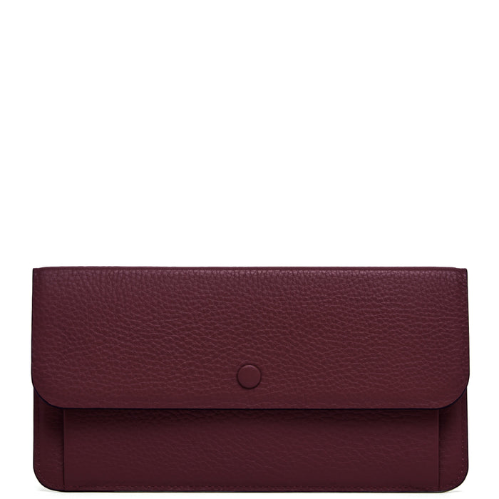 Slim Wallet Clutch - Bordeaux