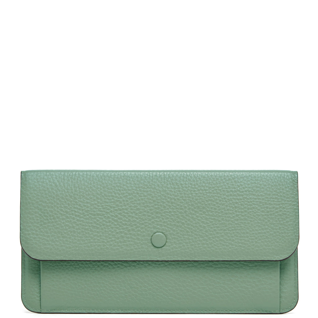 Slim Wallet Clutch - Celadon