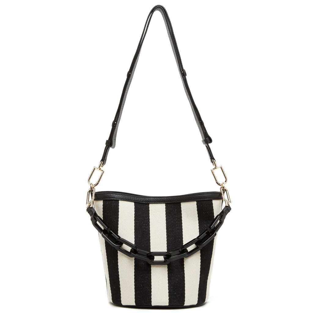 Striped Ava Bag - True Black