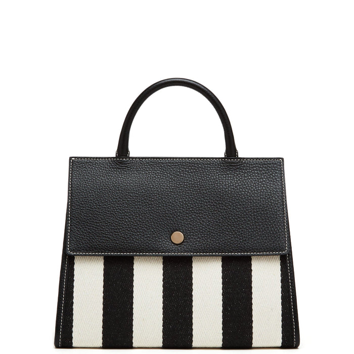Striped Harper Tote - True Black