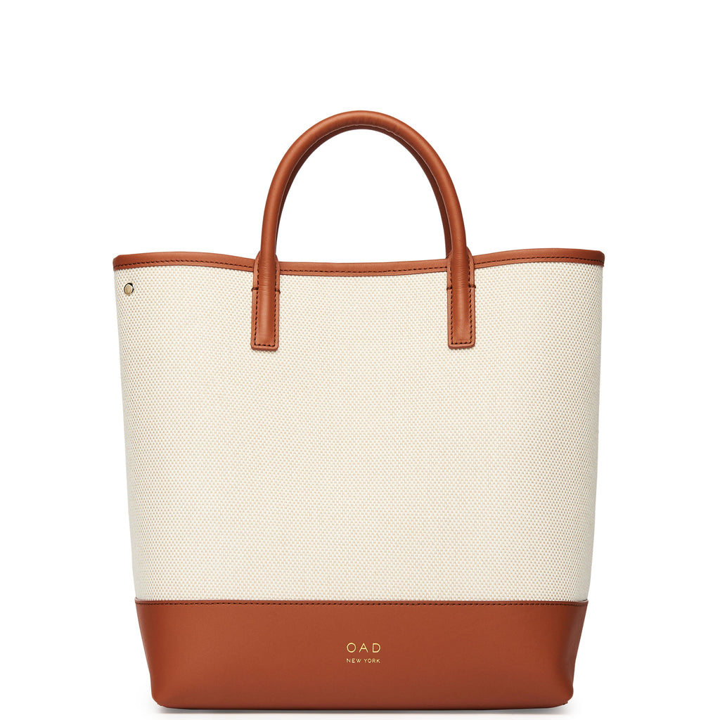 Tall Canvas Carryall Tote - Sienna + Sand