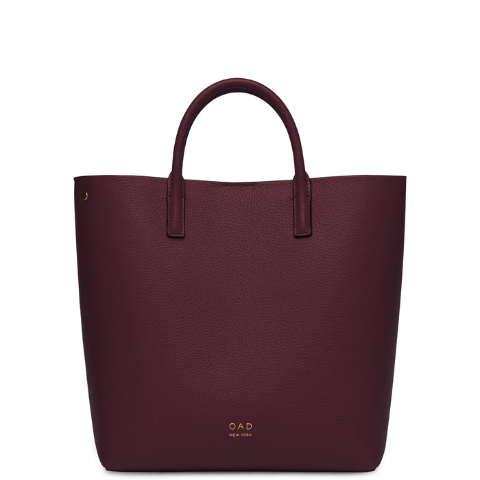 Tall Carryall Tote - Bordeaux