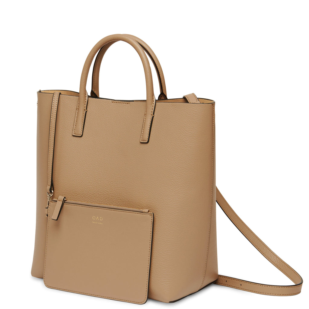 Tall Carryall Tote - Light Camel