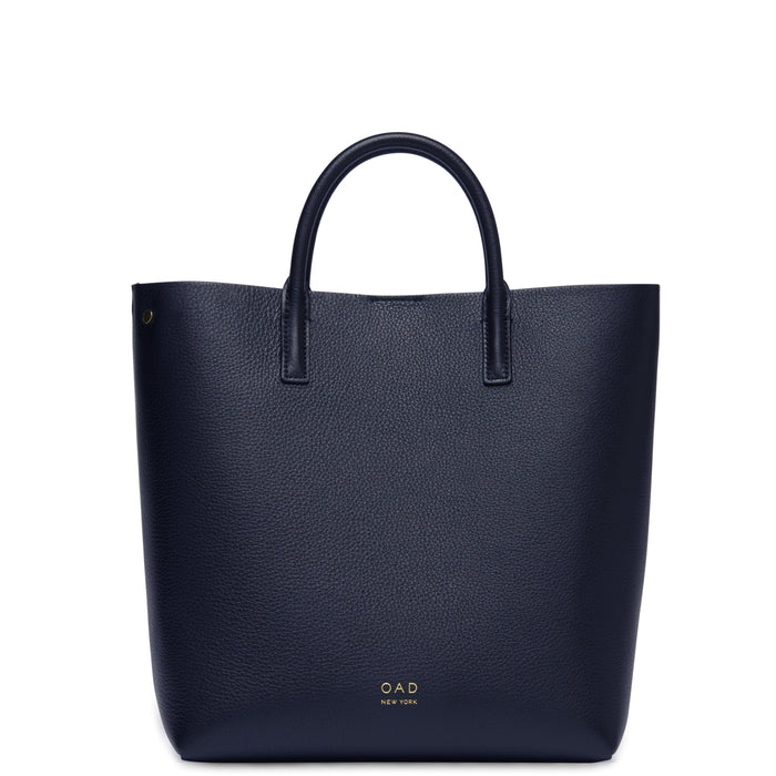 Tall Carryall Tote - Navy Blue - OAD NEW YORK