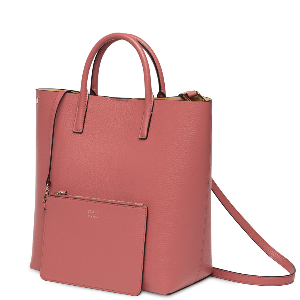 Tall Carryall Tote - Rosewood