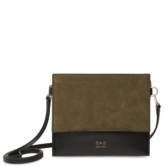 Triple Crossbody - Moss + True Black
