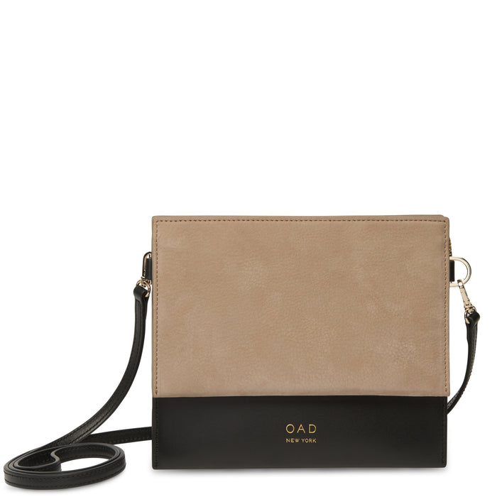 Triple Crossbody - Taupe + True Black