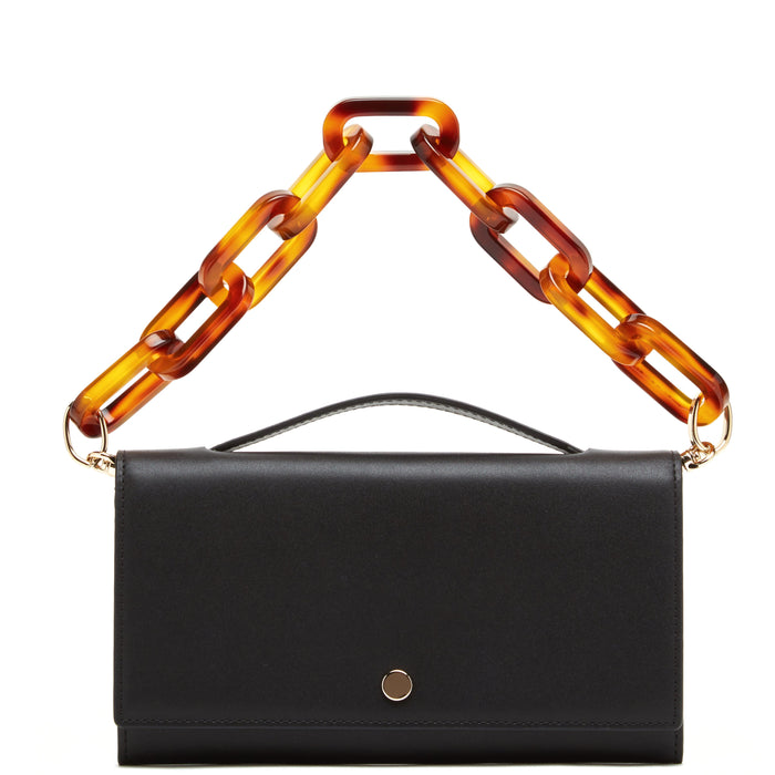 Zoe Crossbody Clutch - True Black + Porcini - OAD NEW YORK