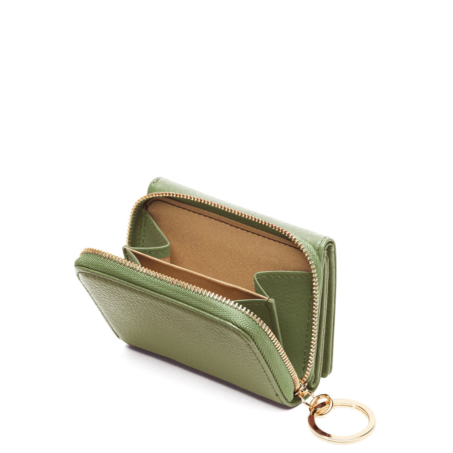 Mini Zip Around Wallet - Olive - OAD NEW YORK