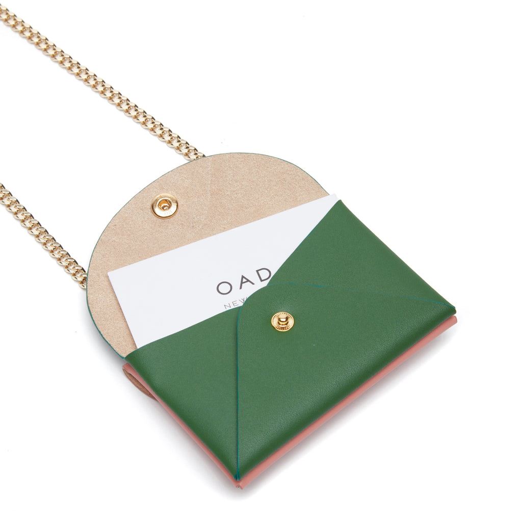Assembly Chain Cardlet - Blush + Fern - OAD NEW YORK