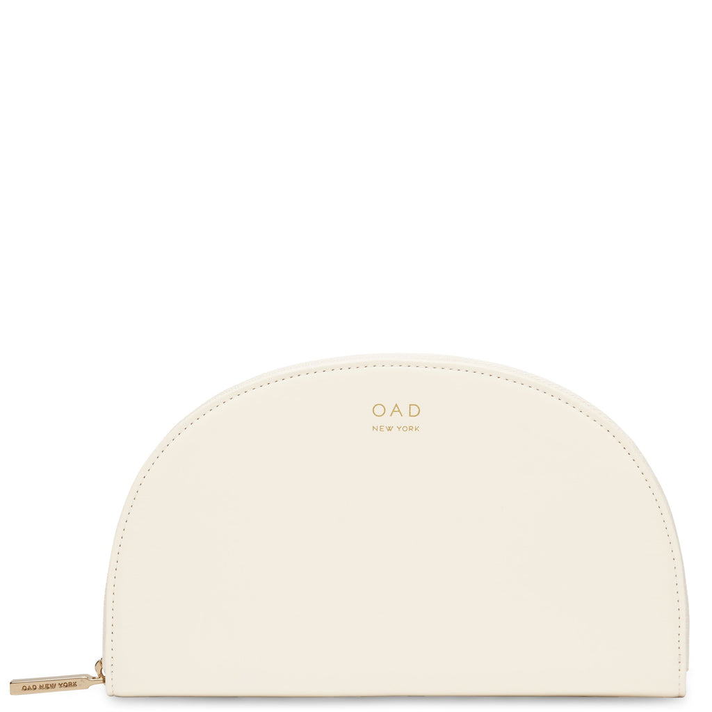 Calf Dia Continental Mirror Wallet - Soft White - OAD NEW YORK