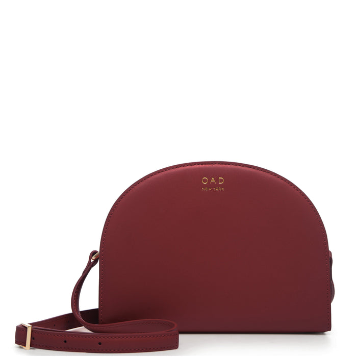 Calf Dia Crossbody - Dark Wine - OAD NEW YORK