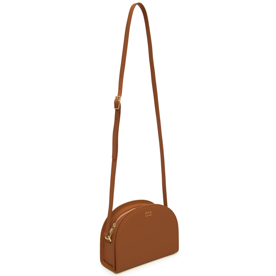 Calf Dia Crossbody - Saddle Brown - OAD NEW YORK