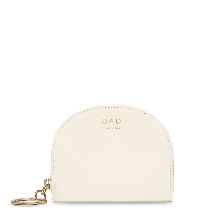 Calf Dia Mini Mirror Wallet - Soft White - OAD NEW YORK