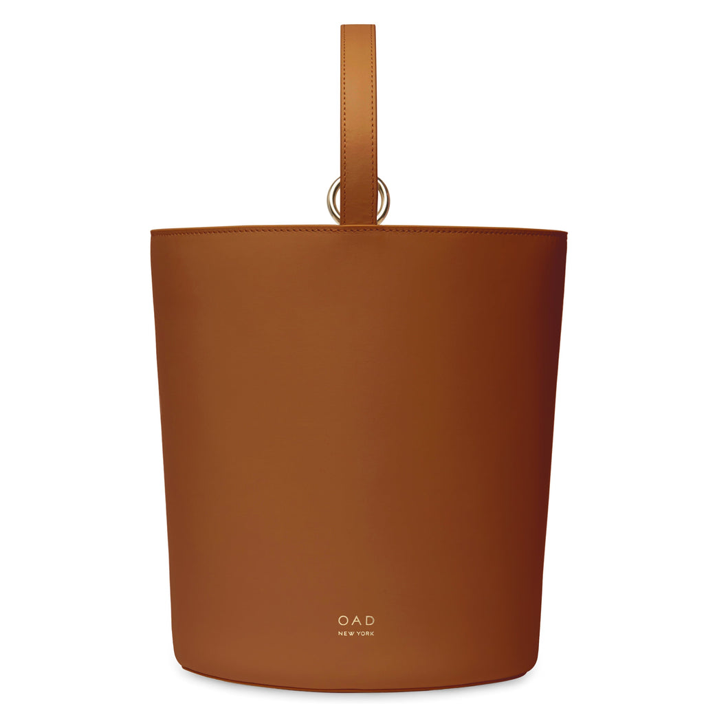Calf Dome Bucket Bag - Saddle Brown - OAD NEW YORK