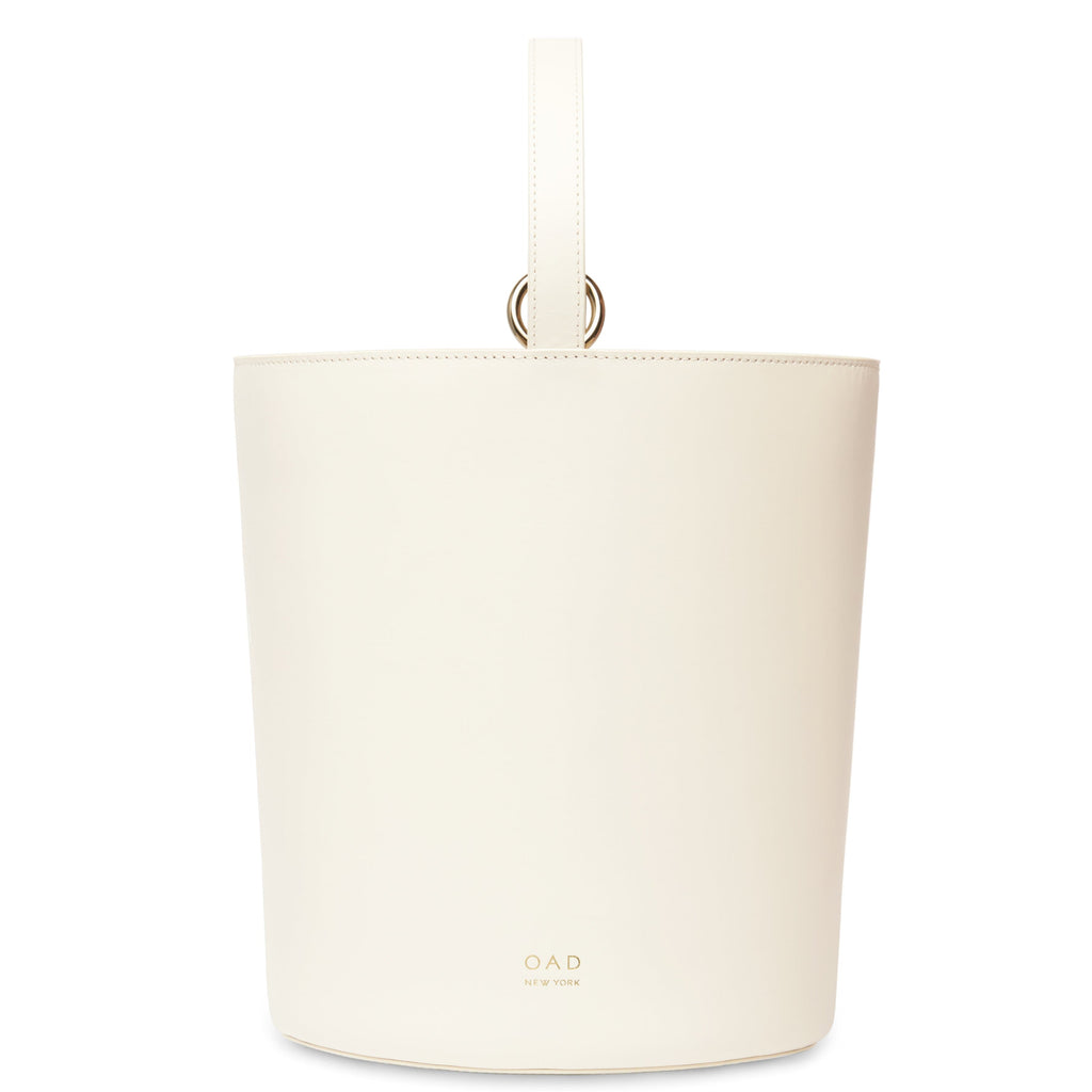 Calf Dome Bucket Bag - Soft White - OAD NEW YORK