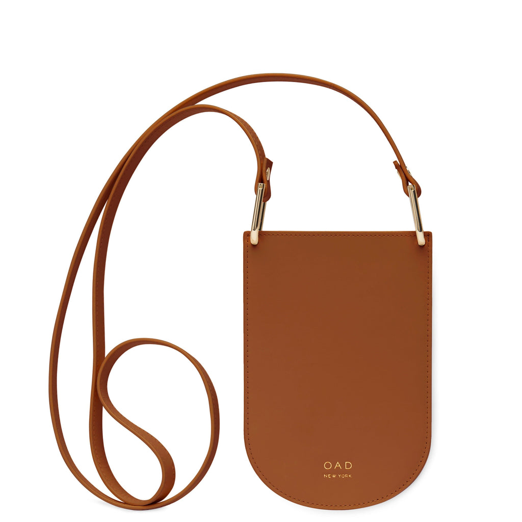 Calf Dome Mini Pouch Crossbody - Saddle Brown - OAD NEW YORK