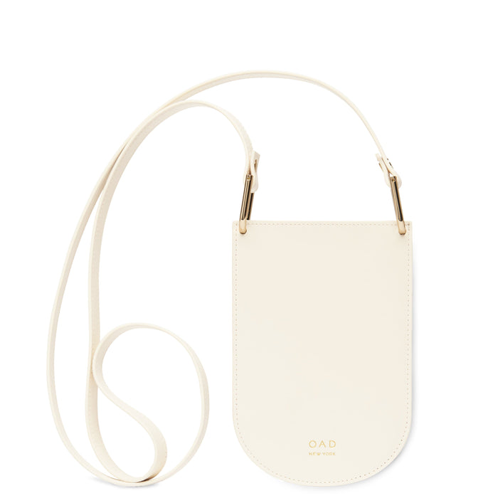 Calf Dome Mini Pouch Crossbody - Soft White - OAD NEW YORK