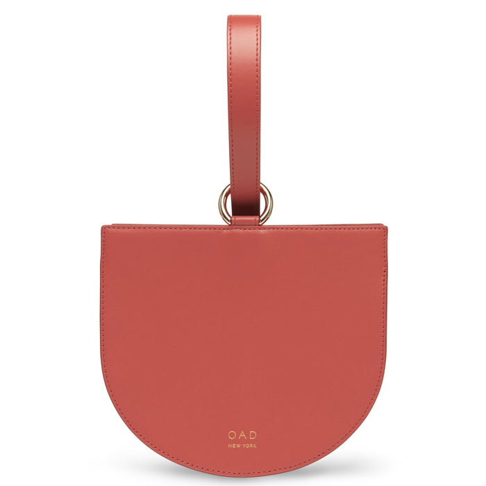 Calf Dome Wristlet - Rosewood - OAD NEW YORK