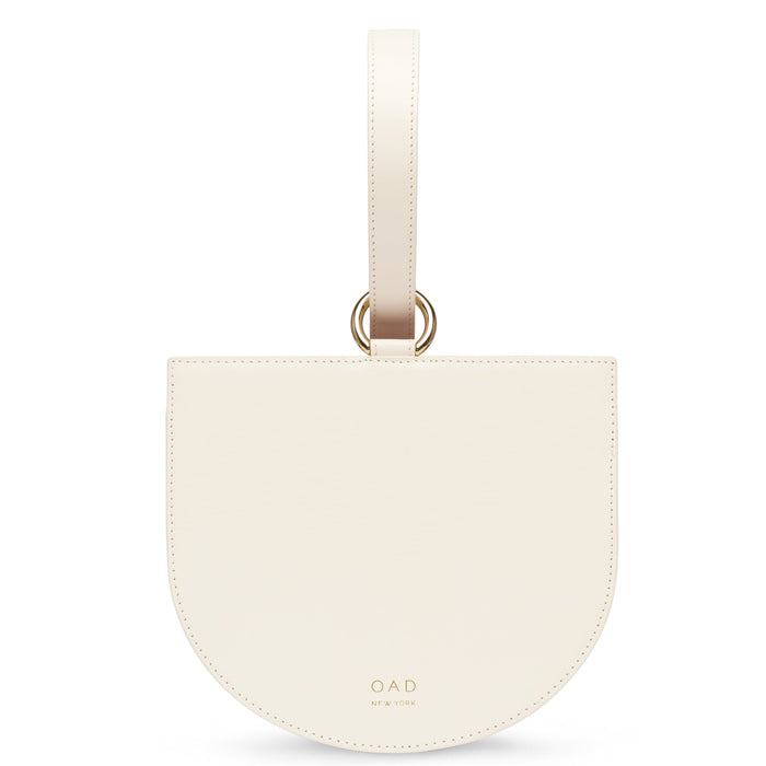 Calf Dome Wristlet - Soft White - OAD NEW YORK