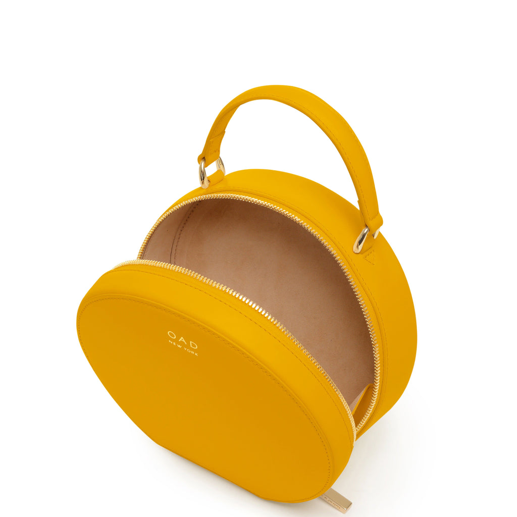 Calf Mini Circle Satchel - Honey - OAD NEW YORK