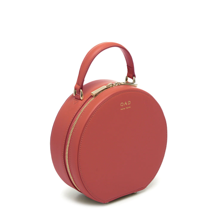 Calf Mini Circle Satchel - Rosewood - OAD NEW YORK