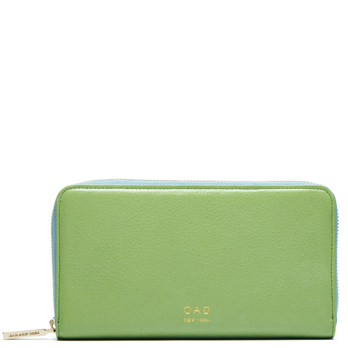 Continental Carryall Wallet - Sage + Baby Blue - OAD NEW YORK