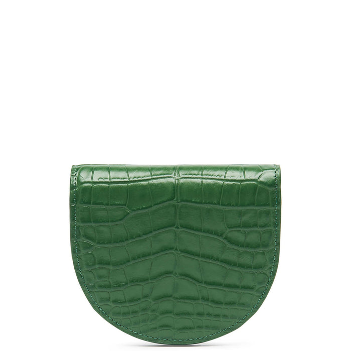 Croco Luna Wallet - Fern - OAD NEW YORK