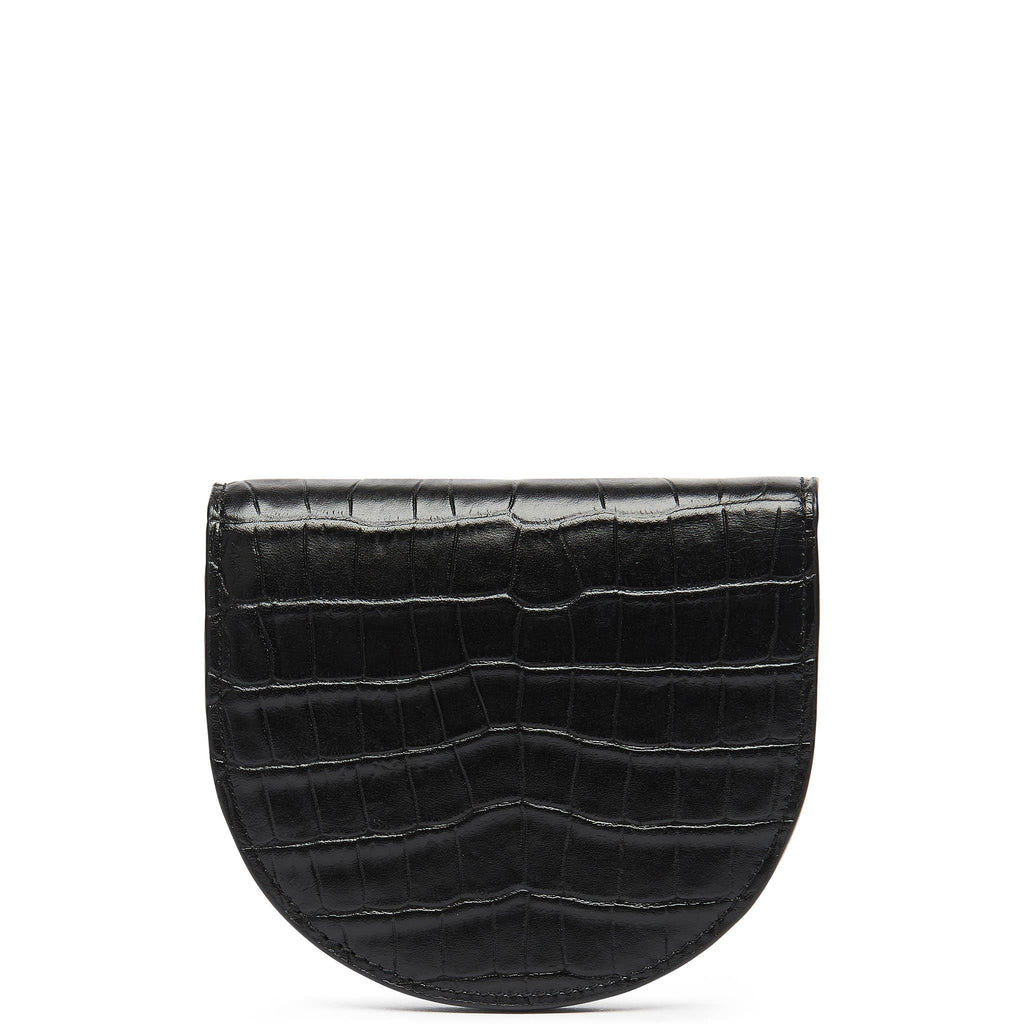 Croco Luna Wallet - True Black - OAD NEW YORK