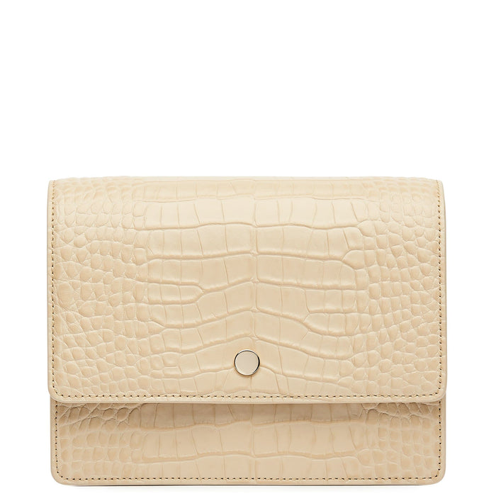 Croco Mini Messenger Courier - Sand - OAD NEW YORK