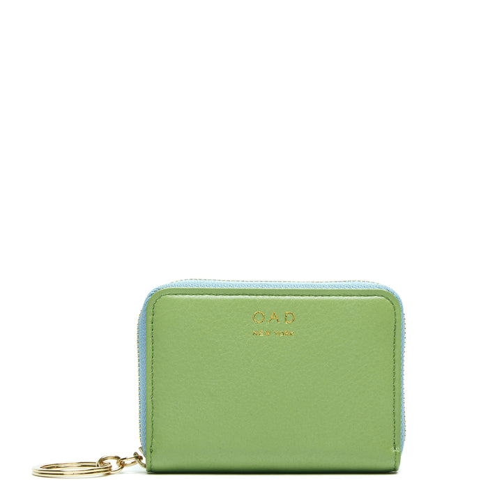 Mini Card Wallet - Sage + Baby Blue - OAD NEW YORK