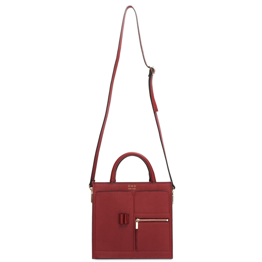 Mini Kit Zip Satchel - Dark Wine - OAD NEW YORK