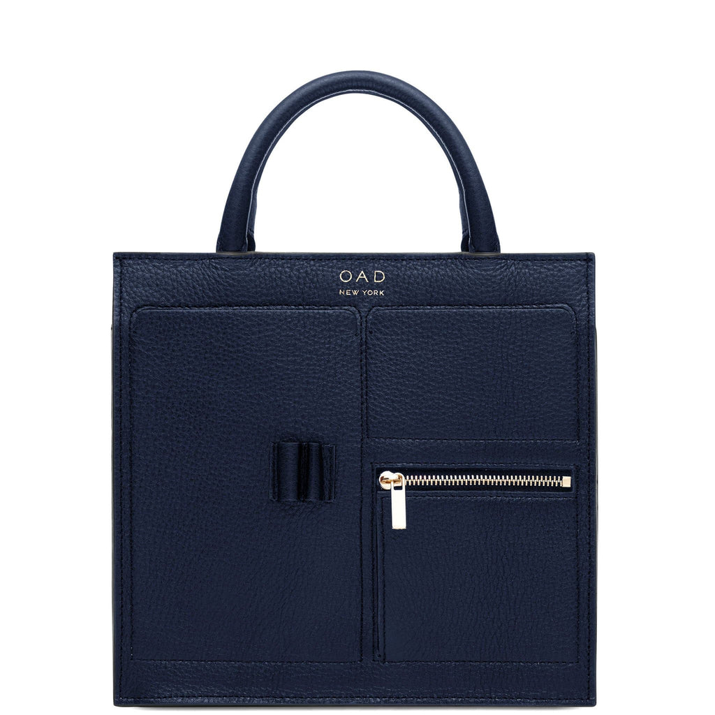 Mini Kit Zip Satchel - Navy Blue - OAD NEW YORK