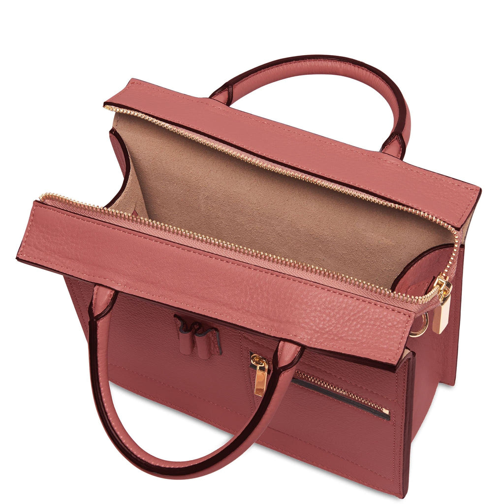 Mini Kit Zip Satchel - Rosewood - OAD NEW YORK
