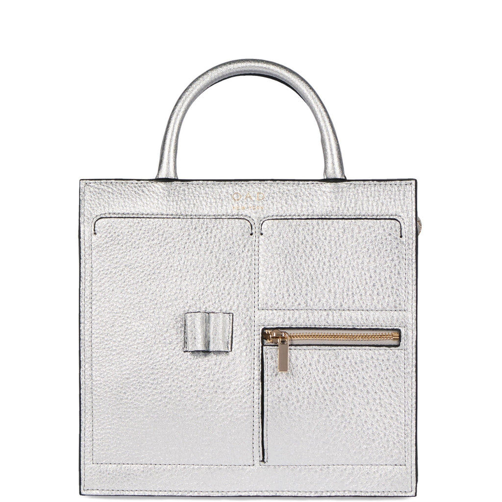 Mini Kit Zip Satchel - Silver - OAD NEW YORK