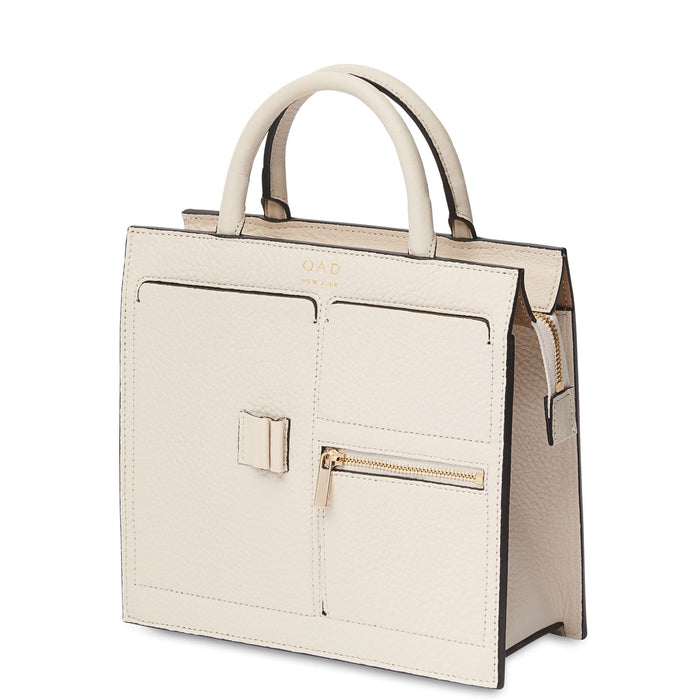 Mini Kit Zip Satchel - Soft White - OAD NEW YORK