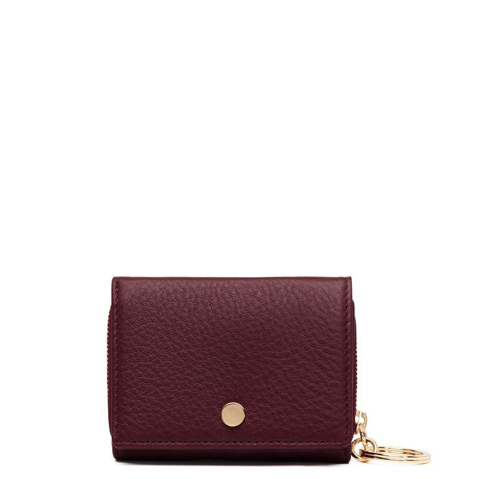 Mini Zip Around Wallet - Bordeaux