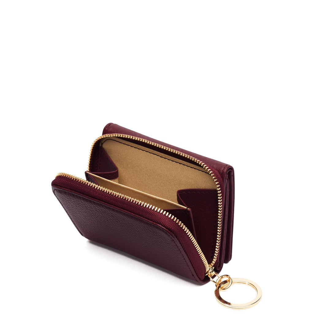 Mini Zip Around Wallet - Bordeaux - OAD NEW YORK