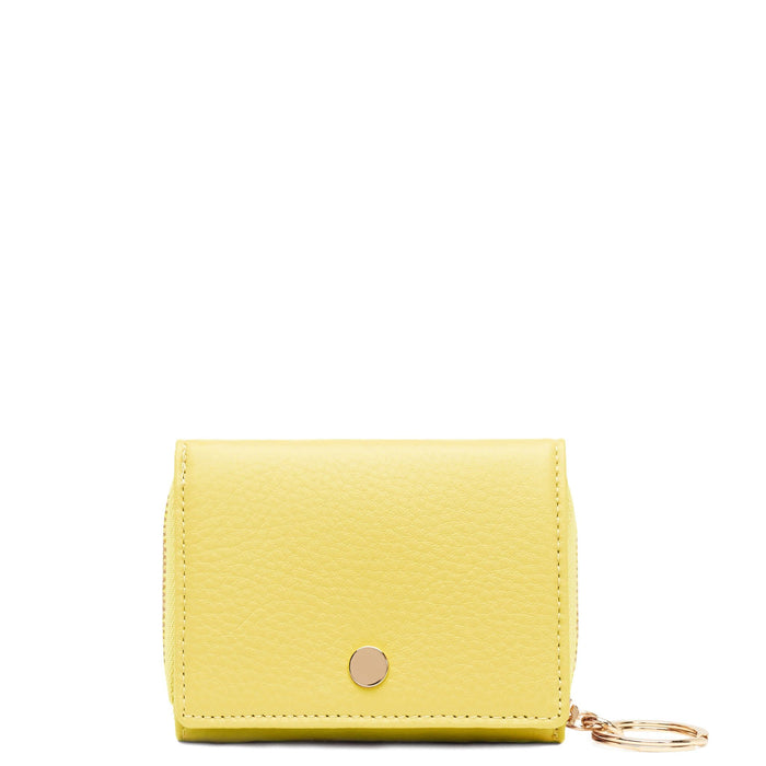 Mini Zip Around Wallet - Lime - OAD NEW YORK