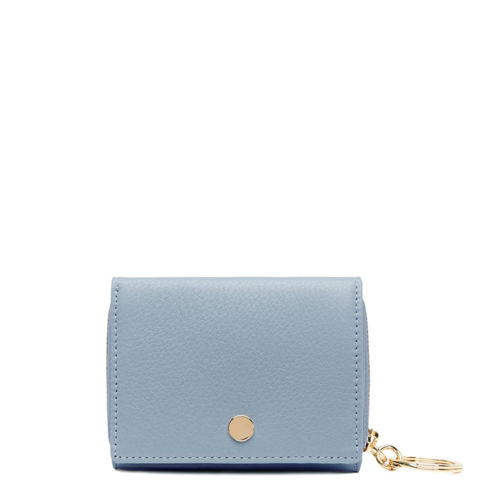 Mini Zip Around Wallet - Powder Blue